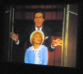 Jerry Orbach and Wanda Richert in a clip from42nd Street, shown at the Orbach tribute on March 24