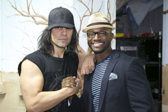 Criss Angel and Taye Diggs