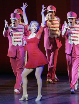 Charlotte d'Amboise and company in Sweet Charity(Photo © Paul Kolnik)