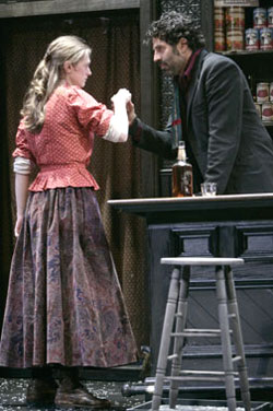 Marin Ireland and Christopher Innvar in The Bells(Photo &copy; T. Charles Erickson)