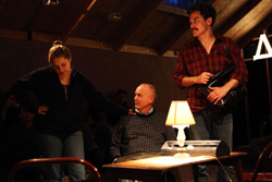 Merritt Wever, Reed Birney, and Michael Shannon