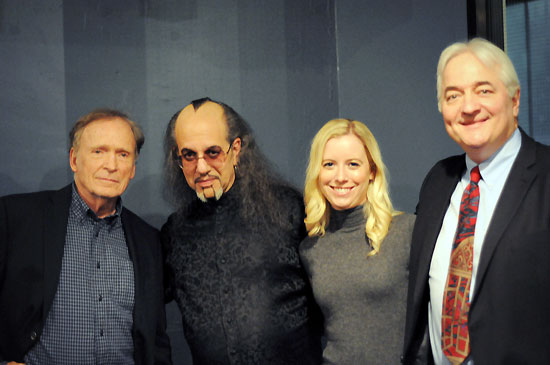 Dick Cavett, Max Maven, Melanie Crispin, and Alexander Marshall
