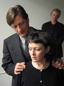 Ken Cheeseman, Paula Langton, and Allyn Burrows in Measure for Measure