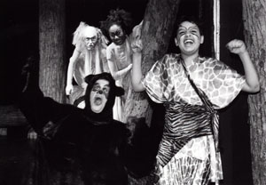 (r-l) Malik Conard Sow, Aliza Kennerly, Stephen Michael Rondel, and Cristiano Magni in The Jungle Book