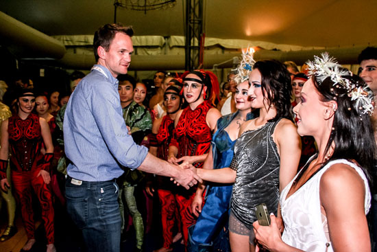 Neil Patrick Harris meets the cast of Cirque du Soleil's Amaluna