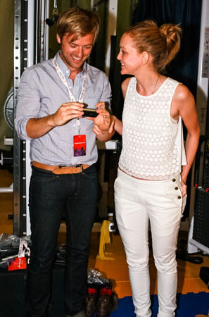 Adam Campbell and Jayma Mays