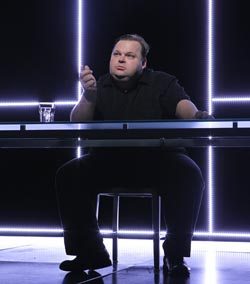 Mike Daisey in The Agony and The Ecstasy of Steve Jobs (© Joan Marcus)