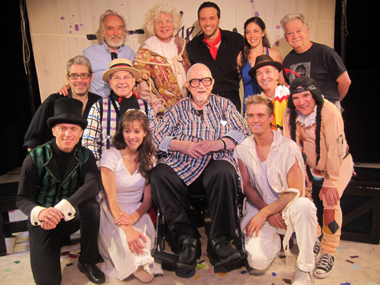 Harvey Schmidt (center) with the Fantasticks family