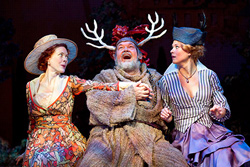 Veanne Cox, David Schramm, and Caralyn Kozlowski