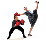 Megan McClellan and Brian Sostek in Trick Boxing (courtesy of the company)