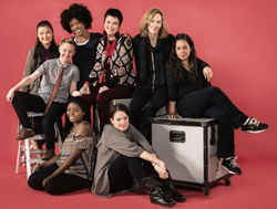 Eve Ensler (center)
