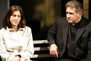 Wendie Malick and Dan Lauria in Questa(Photo © Michael Lamont)