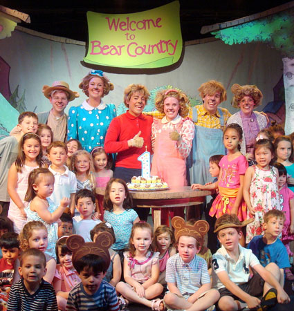 The Berenstain Bears Live! cast celebrates the show's one year anniversary (Courtesy of the company)