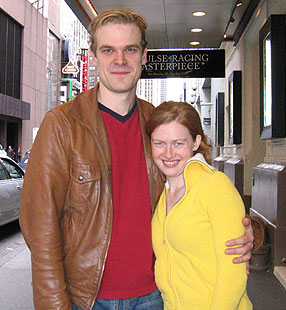 David Harbour and Mireille Enos(Photo © Michael Portantiere)