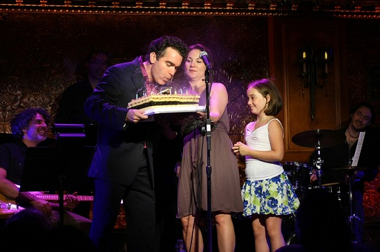 Brian d'Arcy James with wife Jennifer Prescott and daughter Grace
