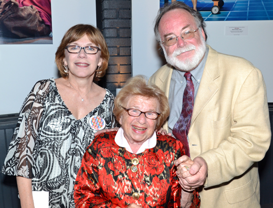 Julianne Boyd, Dr. Ruth Westheimer, Mark St. Germain