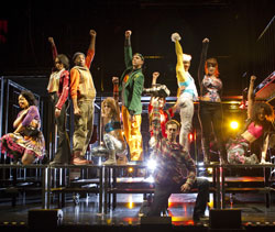 The cast of Rent at New World Stages