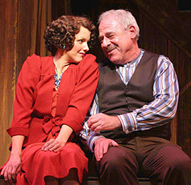 Alice Ripley and Lenny Wolpe in The Baker's Wife(Photo © Jerry Dalia)