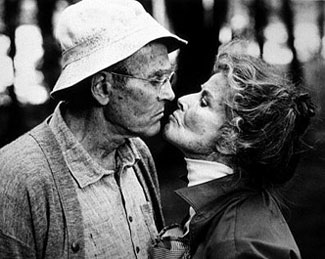 Henry Fonda and Katharine Hepburn in the film versionof On Golden Pond