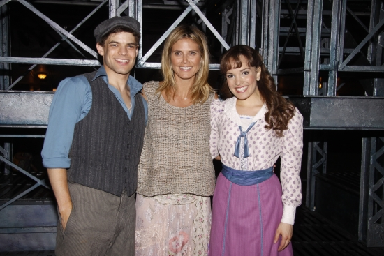 Jeremy Jordan, Heidi Klum, Kara Lindsay