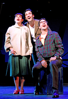Celia Keenan-Bolger, Colin Donnell, and Lin-Manuel Miranda in Merrily We Roll Along (© Joan Marcus)