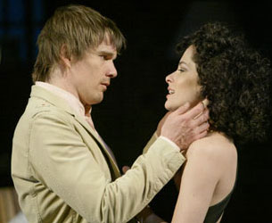 Ethan Hawke and Parker Posey in Hurlyburly(Photo © Carol Rosegg)