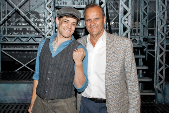 Jeremy Jordan and Joe Torre