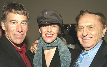 Stephen Schwartz, Alice Ripley, and Joseph Steinat the Baker's Wife party(Photo © Jerry Dalia)