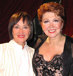 Donna McKechnie (right) with Chita Rivera(Photo © Michael Portantiere)
