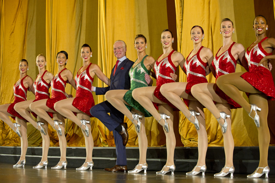 Tim Gunn and Heidi Klum (center) with The Rockettes