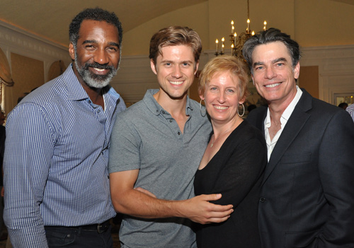 Norm Lewis, Aaron Tveit, Liz Callaway, and Peter Gallagher