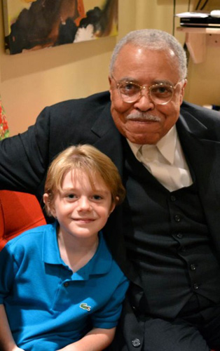 Max Page and James Earl Jones (© Thomas Raynor)
