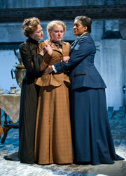 Carrie Coon, Caroline Neff,and Ora Jones