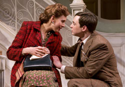 Jessica Hecht and Jim Parsons in Harvey