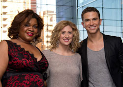 Da'Vine Joy Randolph, Richard Fleeshman and Caissie Levy