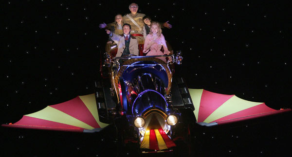 Raúl Esparza, Erin Dilly, Ellen Marlow, Philip Bosco, and Henry Hodges in Chitty Chitty Bang Bang(Photo © Joan Marcus)