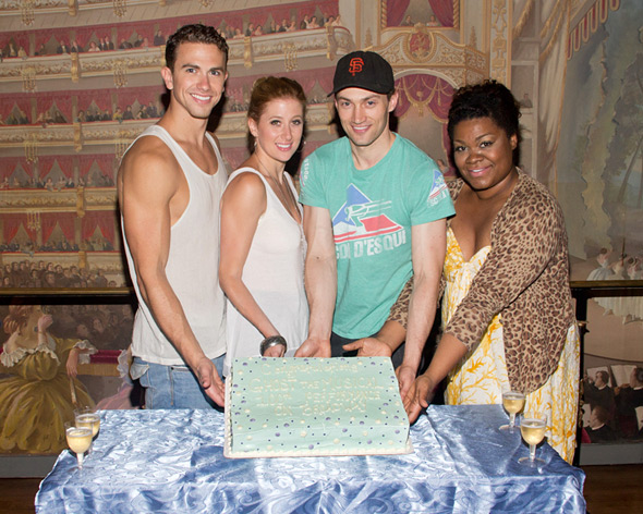 Richard Fleeshman, Caissie Levy, Bryce Pinkham and Da'Vine Joy Randolph