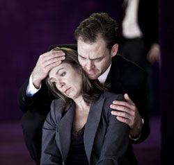 Elizabeth Marvel and Marton Csokas