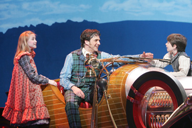 Ellen Marlow, Raúl Esparza, and Henry Hodges in Chitty Chitty Bang Bang(Photo © Joan Marcus)