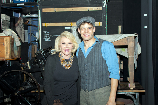 Joan Rivers and Jeremy Jordan