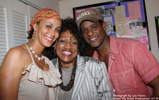 Nicole Ari Parker, Jessye Norman, and Blair Underwood backstage at A Streetcar Named Desire