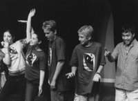 Kids explore the creative processduring a free acting workshopat the Santa Monica Playhouse.
