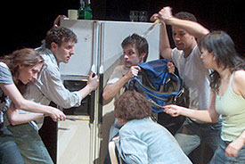 The cast of Snake in Fridge(Photo © Ken Roberts)