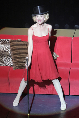 Christina Applegate in Sweet Charity(Photo © Paul Kolnik)