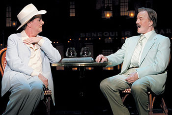Gary Beach and Robert Goulet in La Cage aux Folles(Photo © Carol Rosegg)