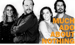 Amanda Morrow, Max Macke, Kristin Woodburn, & Justin Lang in Much Ado About Nothing.