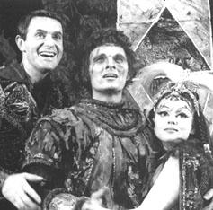 Larry Blyden, Alan Alda, and Barbara Harrisin The Apple Tree