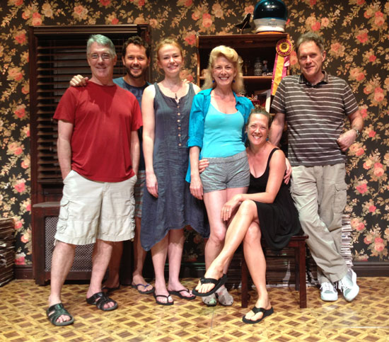Michael Rupert, Matthew Humphries, Gretchen Hall, Leslie Hendrix, Karen Ziemba, and Michael Cullen