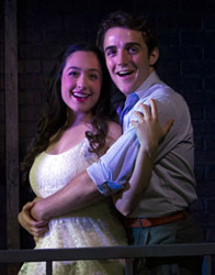 Gina Velez and Keaton Williams in West Side Story (© Doug Catiller)