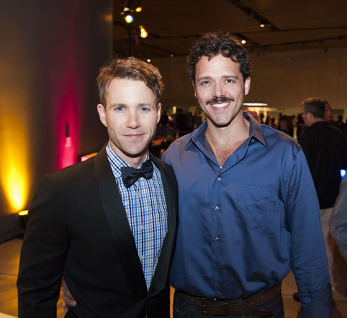 Cast members Christopher J. Hanke and Nick Mennell at The Normal Heart Benefit at Arena Stage at the Mead Center for American Theater